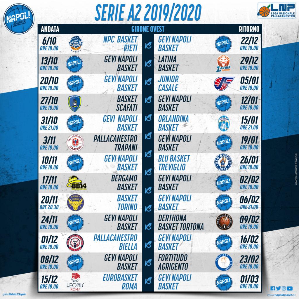 Fortitudo Calendario.Gevi Napoli Diramato Il Calendario Della Serie A2 2019 20